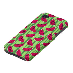 Watermelon Wedges Pattern iPhone 4/4S Case