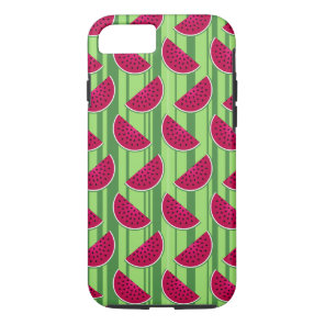 Watermelon Wedges Pattern iPhone 7 Case