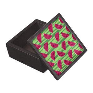 Watermelon Wedges Pattern Jewelry Box