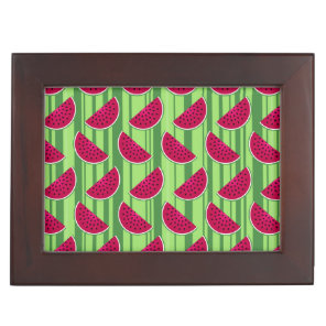 Watermelon Wedges Pattern Keepsake Box