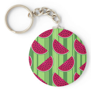 Watermelon Wedges Pattern Keychain