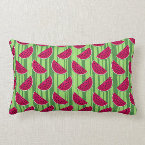 Watermelon Wedges Pattern Lumbar Pillow