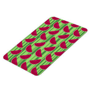 Watermelon Wedges Pattern Magnet