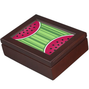 Watermelon Wedges Pattern Memory Box