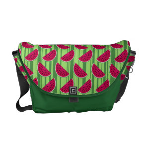 Watermelon Wedges Pattern Messenger Bag