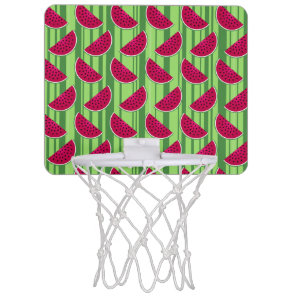 Watermelon Wedges Pattern Mini Basketball Hoop