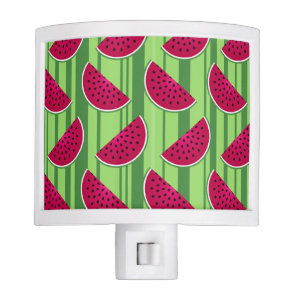 Watermelon Wedges Pattern Night Light