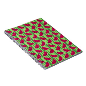 Watermelon Wedges Pattern Notebook