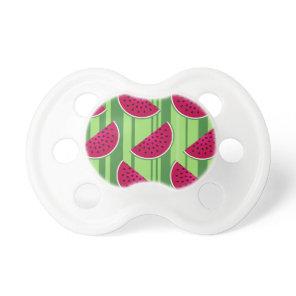 Watermelon Wedges Pattern Pacifier