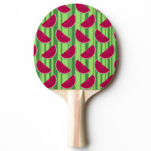 Watermelon Wedges Pattern Ping Pong Paddle
