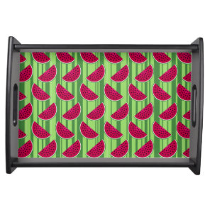 Watermelon Wedges Pattern Serving Tray