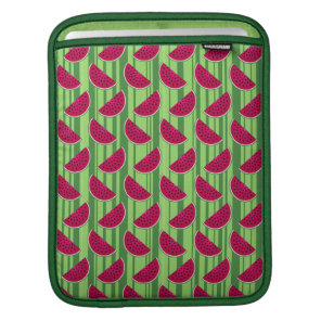 Watermelon Wedges Pattern Sleeve For iPads