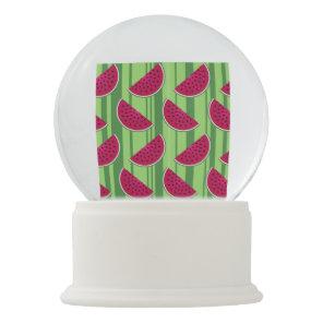Watermelon Wedges Pattern Snow Globe