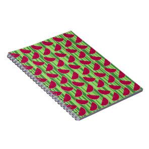 Watermelon Wedges Pattern Spiral Notebook