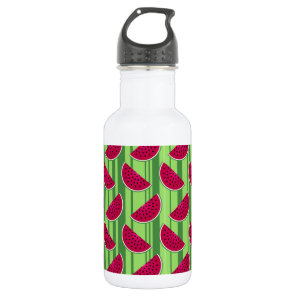 Watermelon Wedges Pattern Stainless Steel Water Bottle