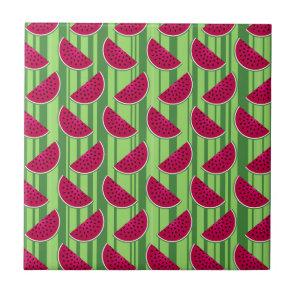 Watermelon Wedges Pattern Tile
