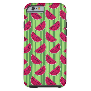 Watermelon Wedges Pattern Tough iPhone 6 Case