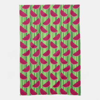 Watermelon Wedges Pattern Towels