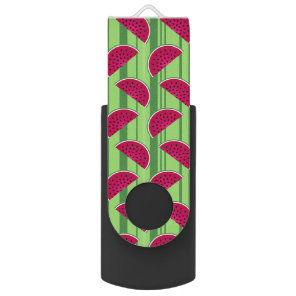 Watermelon Wedges Pattern USB Flash Drive