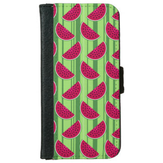 Watermelon Wedges Pattern Wallet Phone Case For iPhone 6/6s