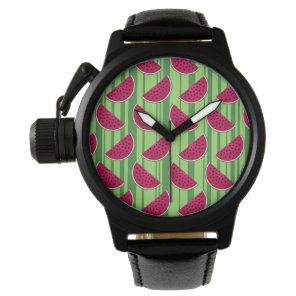 Watermelon Wedges Pattern Watch