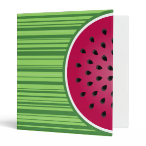 Watermelon Wedgies 3 Ring Binder