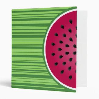 Watermelon Wedgies 3 Ring Binder
