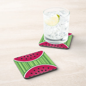 Watermelon Wedgies Beverage Coaster
