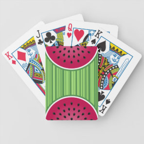 Watermelon Wedgies Bicycle Playing Cards
