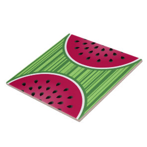 Watermelon Wedgies Ceramic Tile