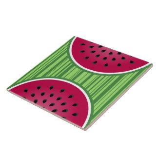 Watermelon Wedgies Ceramic Tile