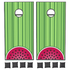 Watermelon Wedgies Cornhole Set