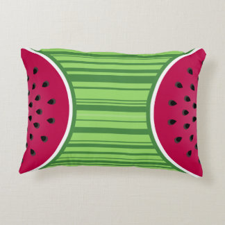 Watermelon Wedgies Decorative Pillow