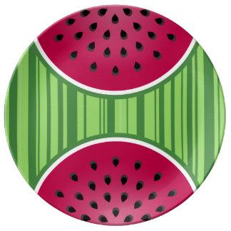 Watermelon Wedgies Plate