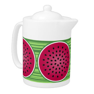 Watermelon Wedgies Teapot