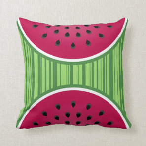 Watermelon Wedgies Throw Pillow