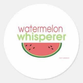 Watermelon Whisperer Classic Round Sticker