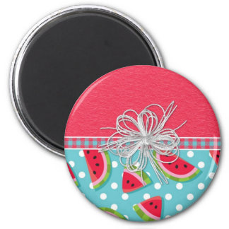 Watermelon with Bow Fridge Magnet