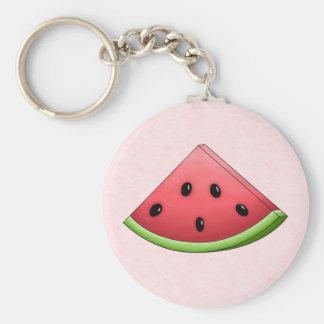 Watermelon with Pink Background Keychain