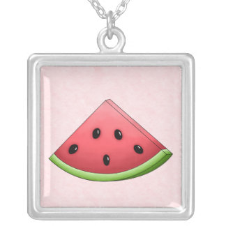 Watermelon with Pink Background Necklace