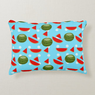 watermelon With Slice Decorative Pillow