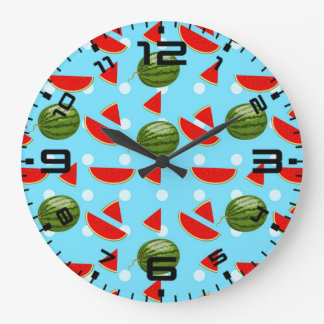 Watermelon With Slice Large Clock