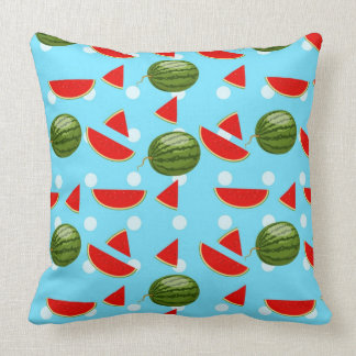 Watermelon With Slice Throw Pillow