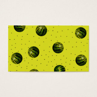 watermelon yellow with seeds business card