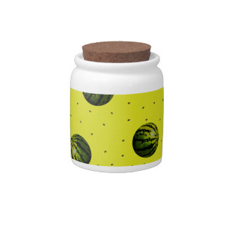 watermelon yellow with seeds candy jars