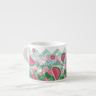 Watermelon Zigzag Pattern Espresso Cup