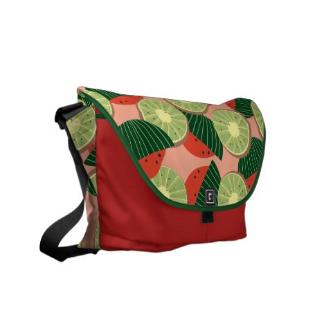 Watermelons and kiwis courier bag