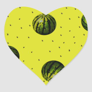 watermelons and seeds products heart sticker