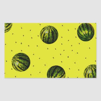 watermelons and seeds products rectangular sticker