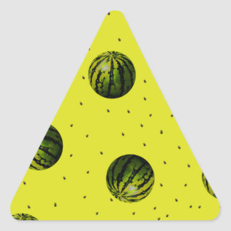watermelons and seeds products triangle sticker